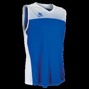 Basket shirt Portland White-Royal