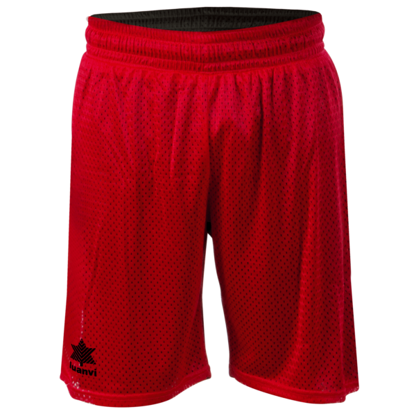 Double face basket bermuda Triple Red-black
